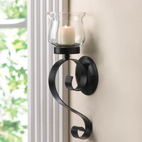 Scrolling Candle Wall Sconce