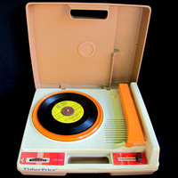 Fisher Price Toys Working Vintage Record Player Turn Table Vinyl Records