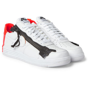 Nike - + Acronym Lunar Force 1 Leather Sneakers | MR PORTER