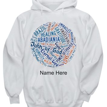 John of God Abadiania, Unisex Hoodie, Personalized Name