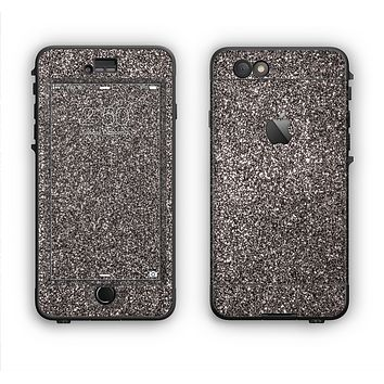 The Black Glitter Ultra Metallic Apple iPhone 6 Plus LifeProof Nuud Case Skin Set