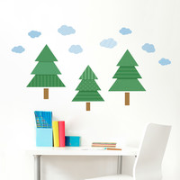 Pattern Pines Printed Wall Decal