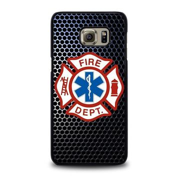 emt ems fire department samsung galaxy s6 edge plus case cover  number 1