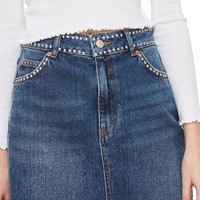 Topshop Studded Denim Skirt | Nordstrom