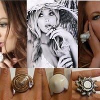 Conch Fashion Spiral Seashell Shell RING...More Sizes & Styles