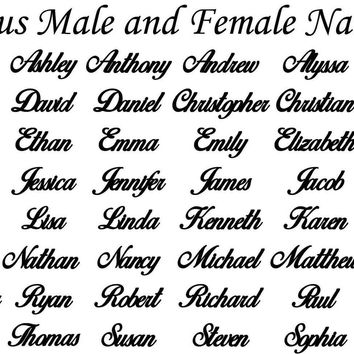 Most Popular Male and Female Names