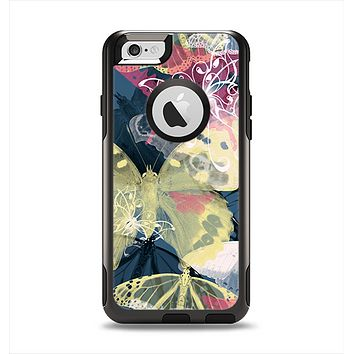 The Multi-Styled Yellow Butterfly Shadow Apple iPhone 6 Otterbox Commuter Case Skin Set