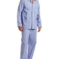 Derek Rose Men's Felsted Pajama Set, Blue, XX-Large