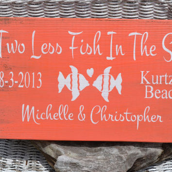 Beach Wedding Sign - Wedding Sign - Beach Decor - Beach Theme - Wedding Gift - Anniversary - Personalized - Customized - Hand Painted