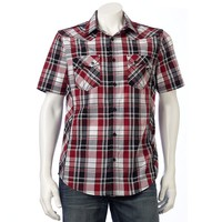 Helix Western Plaid Button-Down Shirt