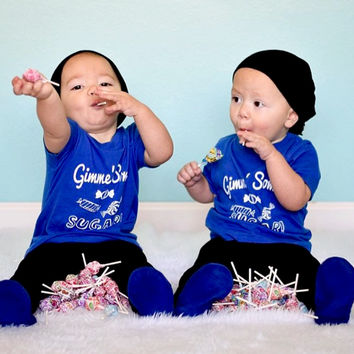 GIMME' SOME SUGAR! Toddlers Tee in Blue!