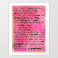 Fight Club Art Print by The Quotes Project