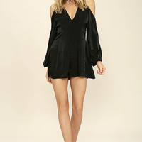 Body and Soul Black Long Sleeve Romper
