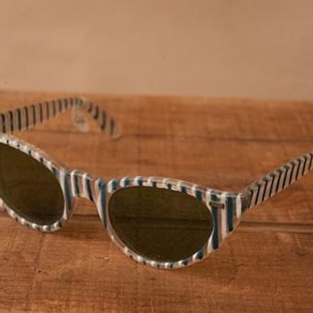 Vintage Pinstriped Sunglasses
