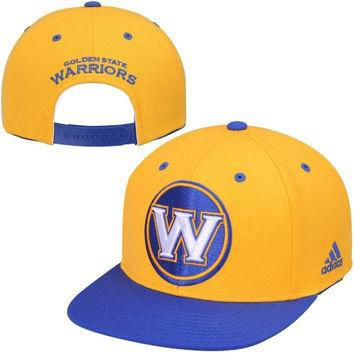 Golden State Warriors adidas Secondary Two-Tone Oversized Snapback Adjustable Hat - Go