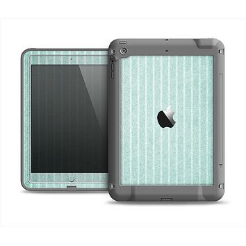 The Light Green Scratched Stripe Pattern v4 Apple iPad Air LifeProof Fre Case Skin Set