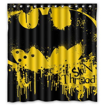 Batman Shower Curtain Custom Polyester Fabric Bathroom Shower Curtain