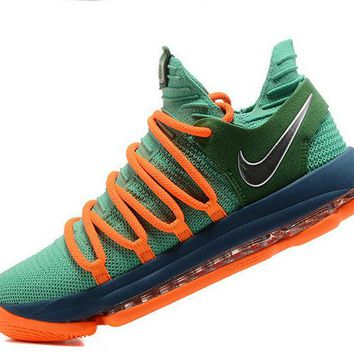 Where To Buy 2018 Nike Zoom KD 11 EP Green Orange 897816 106 Kevin Durant Mens Basketball Shoes Brand sneaker