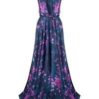 Floral Silk Twist Gown | Calla | Avenue32