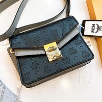 MCM Fashion New Ladies Embossed Letter Clasp Messenger Bag Crossbody Bag