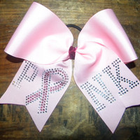 Breast Cancer Awareness BowPink Glitter Large 3 by UBeUInc on Etsy
