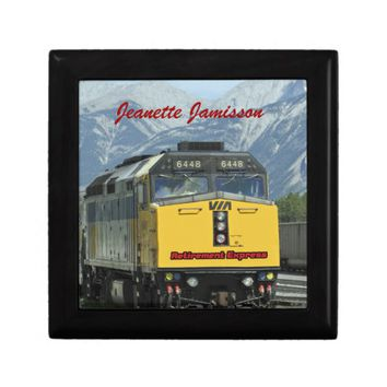 Retirement Gift Box, Yellow Train Keepsake Box