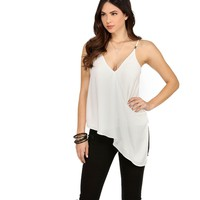 Ivory Out Of Line Asymmetrical Top