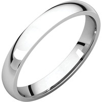 14X1 3mm Light Comfort Fit Wedding Band Ring - Bridal Jewelry: RingSize: 00