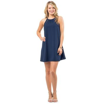Christine Lace Inset Dress in Nautical Navy by Southern Tide - FINAL SALE