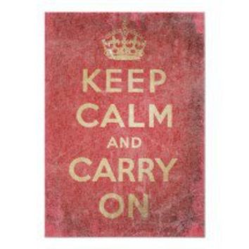 Vintage Keep Calm And Carry Posters