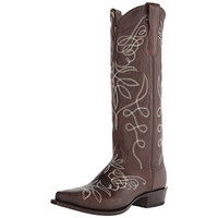 Stetson Womens Adeline Leather Embroidered Cowboy, Western Boots