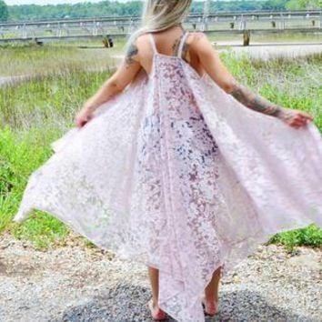 Pink Lace Maxi Boho dress, Plus size Romantic Bridal dress, Spell Gypsy Magnolia Lace Pearl dress, Manteau Boheme Femme True Rebel Clothing