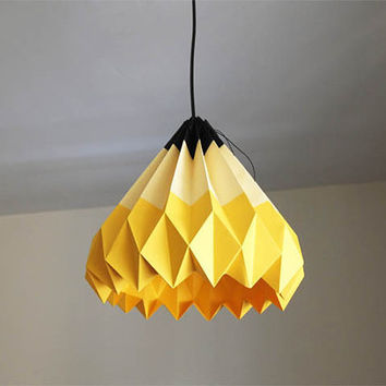 Pencil/Origami Paper Lamp Shade-Yellow