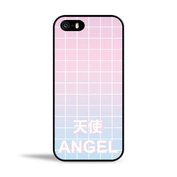 Angel Pastel Aesthetic Grid Case for Apple iPhone 5/5s
