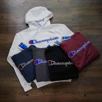 Champion Long Sleeve Hedging Pullover Sweater Hoodies