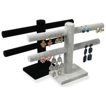 Double-Deck Earrings Holder Shelf - Jewelry Holder
