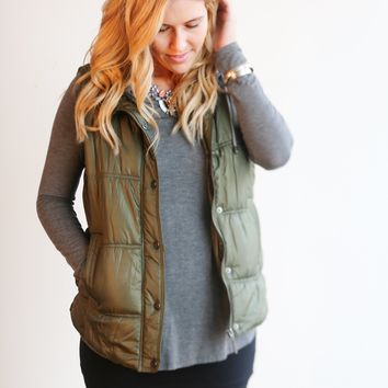Hooded Puffer Vest - 3 Colors