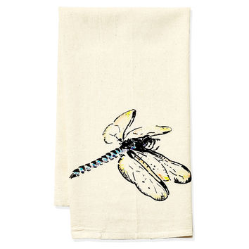 Dragonfly Tea Towel, Black, Tea towels & Dishtowels