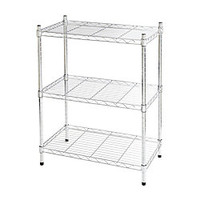 Realspace Wire Shelving 3 Shelves 30 H x 23 W x 13 D Chrome by Office Depot & OfficeMax