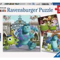 Disney Pixar Monsters University - Mike and Sully - (3 x 49) Piece Jigsaw Puzzles