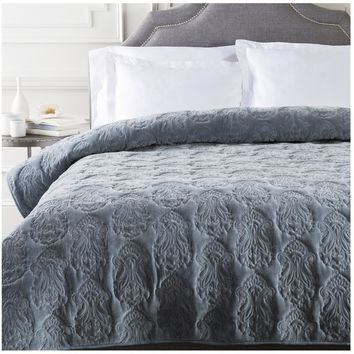 Medici Medallion Gray Quilt