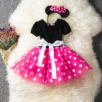 Kids Ballet Dress For Girl Princess Party Costume 1st 2nd 3rd Birthday Gift Toddler Baby Girls Tutu Dress Up Baptism Clothes