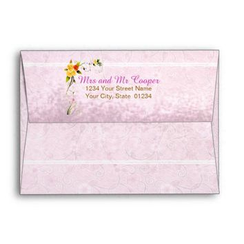 Rustic Floral Buds | Wedding Mailing Envelope