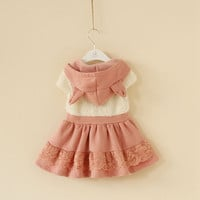 18m,2y,3y,4y,5y toddler girl winter dress wedding party dress pink dress