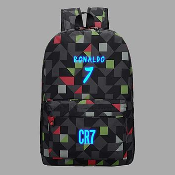 Teen Backpack School Bags for Teenagers Boys BackPack Men Ronaldo Fashion Bookbags for Children Cool Traveling Schoolbag bagpack