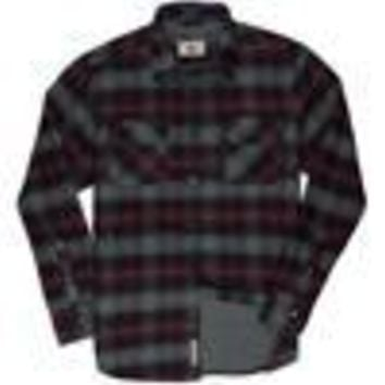 Shayne - Flannel Outer Shirt - Crimson