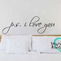 P.S. I Love You Wall Decal