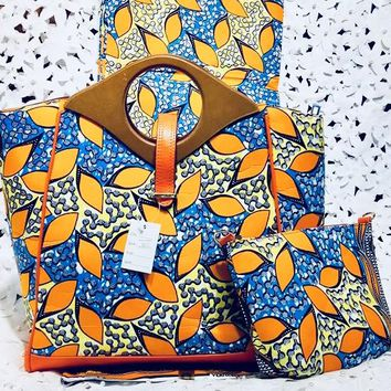 Copy of DragFashion African Print Hobo Bag with Wallet