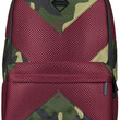 The X Mesh Camo Cut & Sew Backpack in Red