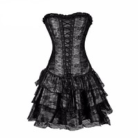 Sexy Steampunk Corsets and Bustiers Top Lace Evening Women Plus Size Push Up Gothic Corset Dress Halloween Costume